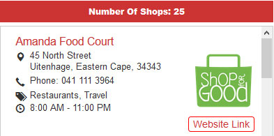 site link store locator view