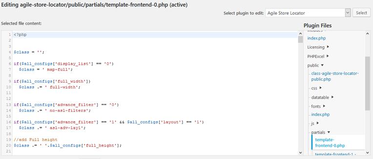 WordPress Plugin Editor