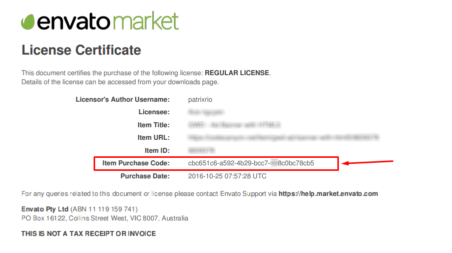 Image of Envato License